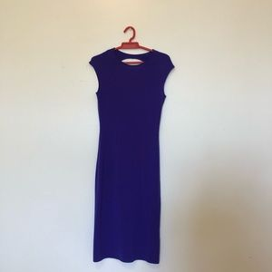 Ralph Lauren Royal Purple Knit Midi Dress